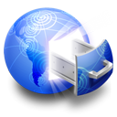 network, Server RoyalBlue icon