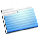 Folder, Aqua, experimental Black icon