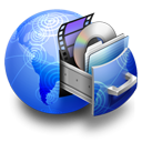 network, storage Black icon