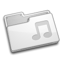 Folder, music WhiteSmoke icon