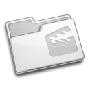 movie, video, film, Folder Gainsboro icon