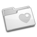 Favorite, Folder Gainsboro icon