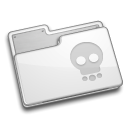 Folder, skull WhiteSmoke icon