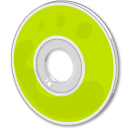Cd, Disk, save, disc GreenYellow icon