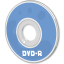 Dvd, disc CornflowerBlue icon