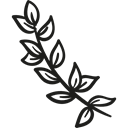 plant, branch, garden, gardening, nature, leaves Black icon