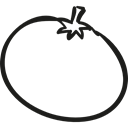 Tomato, food, Fruit, Farm, gardening, vegetable Black icon