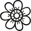 Flower Bud, Flower, petals, nature, daisy, Flower Petals Black icon