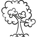 branch, Forest, trees, Foliage, nature, Branches, woods Icon