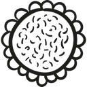 Flower, garden, sunflower, Flower Petals, nature Black icon