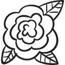 gardening, nature, Flower, Flower Bud, garden, rose Black icon