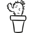 nature, garden, pot, dry, Desert, Cactus Black icon