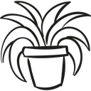 gardening, garden, nature, plant, pot Black icon