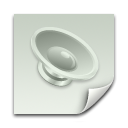 document, paper, File, Clipping, voice, sound LightGray icon