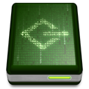 drive, scsi DarkOliveGreen icon