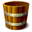 wooden, Blank, Empty, Bucket SaddleBrown icon