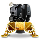 lem, lunar, module Black icon