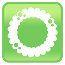 wreath, Iphone, Cell phone, smartphone, mobile phone YellowGreen icon