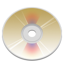Dvd, disc Tan icon