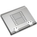 movie, film, Folder, video Silver icon