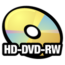 Rw, Hd, Dvd, disc Black icon