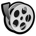 movie, video, film Black icon