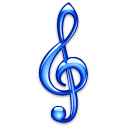 clef, treble Black icon