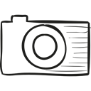 logotype, social network, photograph, Logo, social media, photo, Camera Black icon