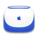 indigo, Ibook WhiteSmoke icon