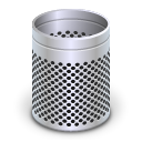 Empty, recycle bin, Dock, Blank, Trash Silver icon