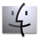 Finder, Dock Silver icon
