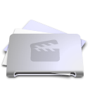 movie, Folder, film, video Lavender icon