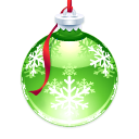 ornament, holly LimeGreen icon