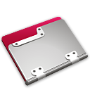 Folder, strawberry Black icon