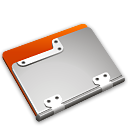 tangerine, Folder Black icon