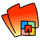 Folder OrangeRed icon