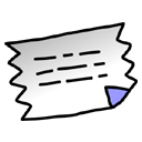 Text, document, Clipping, File Black icon
