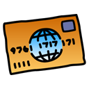 credit, card Black icon