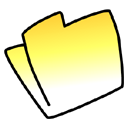 yellow, Folder Khaki icon