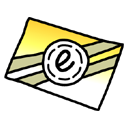 Letter, envelop, Message, Email, mail Black icon