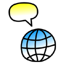 Comment, speak, talk, Chat Black icon