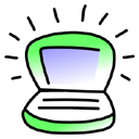 lime, Ibook, password, Key Black icon