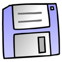 Diskette LightSteelBlue icon