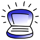indigo, Ibook Black icon