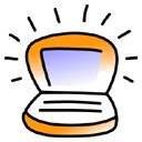 Ibook, tangerine Black icon