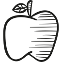 Fruit, Apples, Juice, organic, food, natural, fruits Black icon