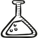 laboratory, education, experiment, Test Tube, flask, lab, Chemistry Black icon