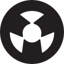 radiation, Atoms, Atom, nuclear, Energy, Radioactivity, interface Black icon