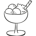 sweet, Summertime, summer, Dessert, food, Desserts, Ice cream Black icon
