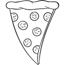 food, meal, Italian Food, Lunch, junk food, Fast food, Pizzas Black icon